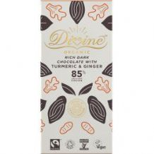 Divine Fairtrade Chocolate With Turmeric & Ginger 80g